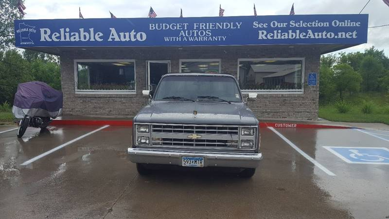 1986 Chevrolet C/K 10 Series for sale at Reliable Auto in Cannon Falls MN