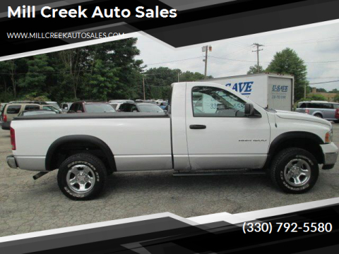 2004 Dodge Ram Pickup 1500 for sale at Mill Creek Auto Sales in Youngstown OH