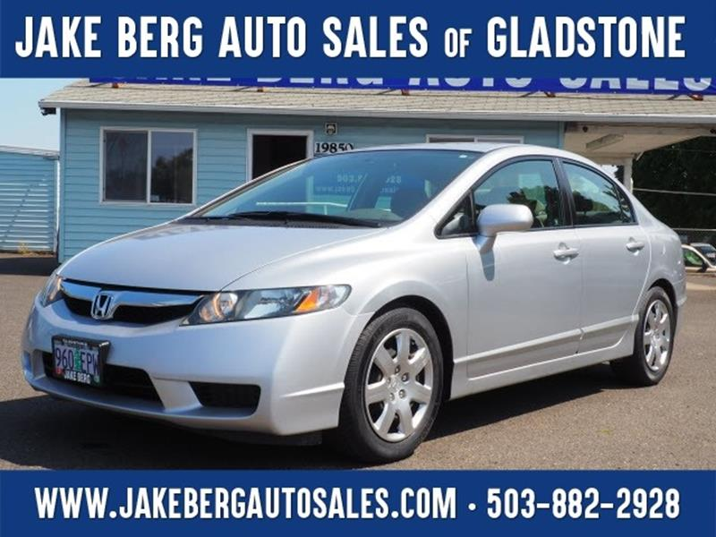 2010 Honda Civic For Sale At Jake Berg Auto Sales In Gladstone OR
