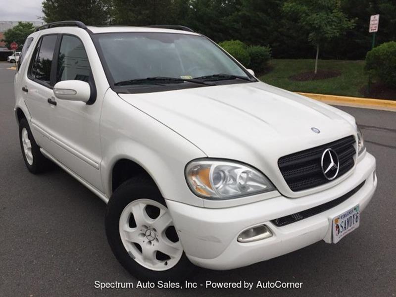 2002 Mercedes Benz M Class For Sale At Spectrum Auto Sales Inc In  Fredericksburg