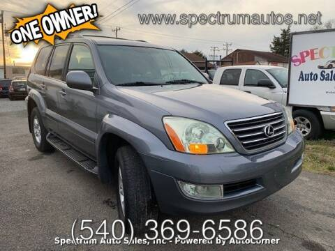 2006 Lexus GX 470 for sale at Spectrum Auto Sales inc in Fredericksburg VA