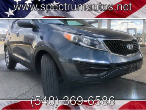2015 Kia Sportage LX for sale at Spectrum Auto Sales inc in Fredericksburg VA