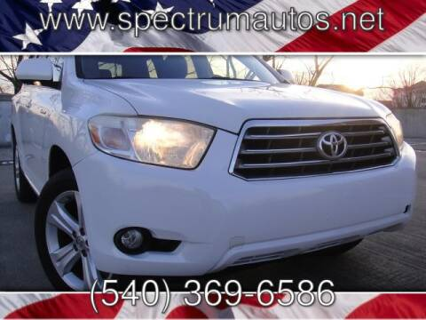 2008 Toyota Highlander Limited for sale at Spectrum Auto Sales inc in Fredericksburg VA