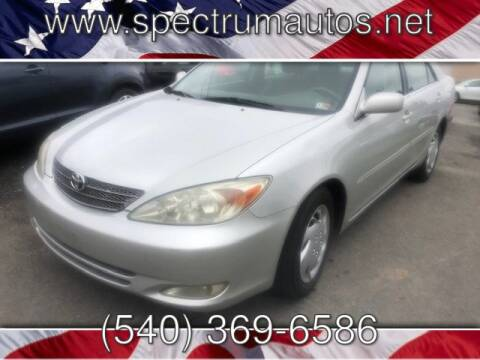 2003 Toyota Camry for sale at Spectrum Auto Sales inc in Fredericksburg VA