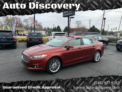 2014 Ford Fusion SE for sale at Auto Discovery in Waterford Twp MI