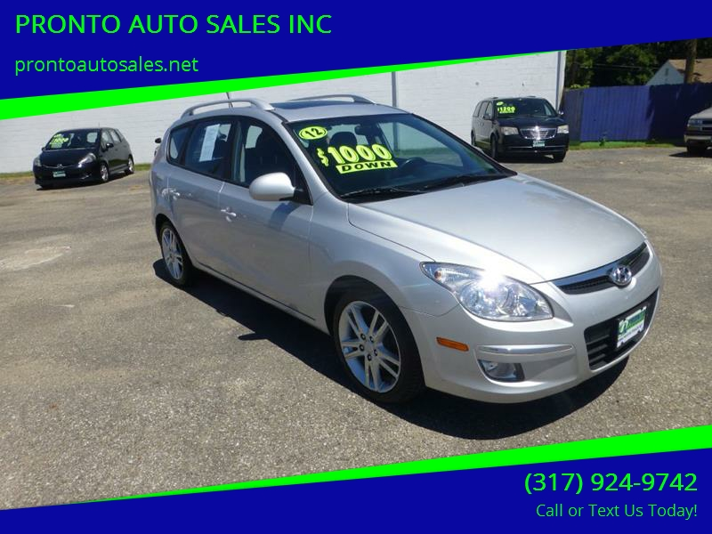 2012 Hyundai Elantra Touring For Sale At PRONTO AUTO SALES INC In  Indianapolis IN