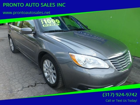 Pronto Auto Sales >> 2013 Chrysler 200 For Sale In Indianapolis In
