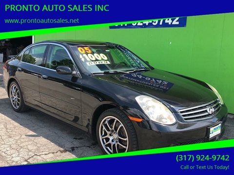 Pronto Auto Sales >> 2005 Infiniti G35 For Sale In Indianapolis In