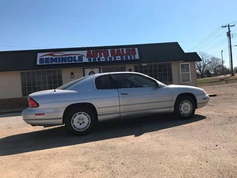 1995 Chevrolet Monte Carlo for sale at Seminole Auto Sales in Seminole OK
