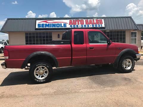 2000 Ford Ranger for sale at Seminole Auto Sales in Seminole OK