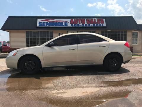 2009 Pontiac G6 for sale at Seminole Auto Sales in Seminole OK