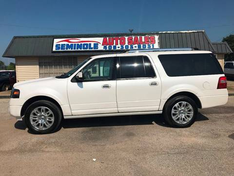 2014 Ford Expedition EL for sale at Seminole Auto Sales in Seminole OK