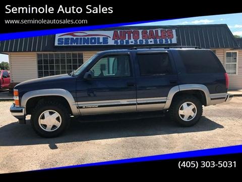1999 Chevrolet Tahoe for sale at Seminole Auto Sales in Seminole OK