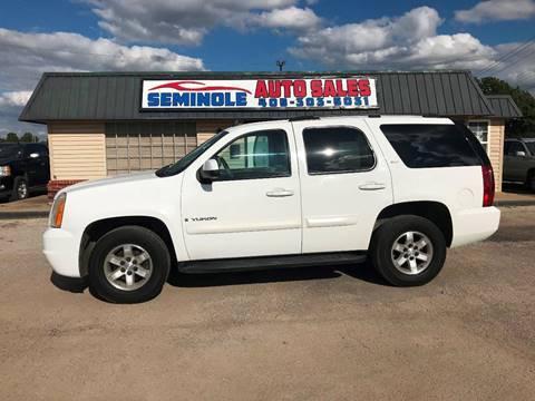 2007 GMC Yukon for sale at Seminole Auto Sales in Seminole OK