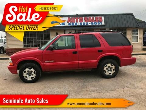2004 Chevrolet Blazer for sale at Seminole Auto Sales in Seminole OK