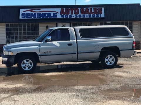 1997 Dodge Ram Pickup 1500 for sale at Seminole Auto Sales in Seminole OK
