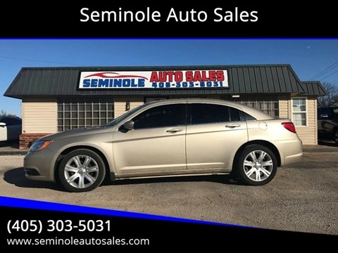 2013 Chrysler 200 for sale at Seminole Auto Sales in Seminole OK