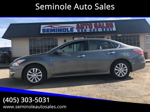 2014 Nissan Altima for sale at Seminole Auto Sales in Seminole OK