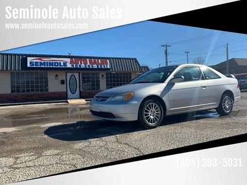 2002 Honda Civic for sale at Seminole Auto Sales in Seminole OK
