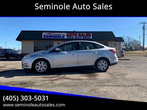 2012 Ford Focus for sale at Seminole Auto Sales in Seminole OK