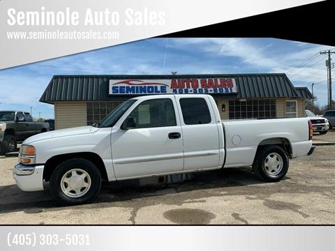 2004 GMC Sierra 1500 for sale at Seminole Auto Sales in Seminole OK