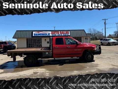 2005 Dodge Ram Pickup 3500 for sale at Seminole Auto Sales in Seminole OK