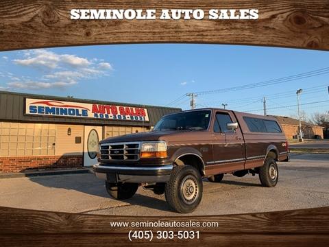 1993 Ford F-250 for sale at Seminole Auto Sales in Seminole OK