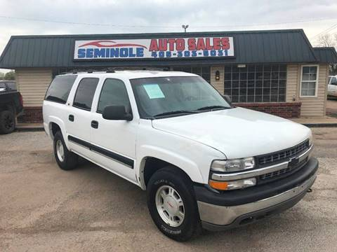 2001 Chevrolet Suburban for sale at Seminole Auto Sales in Seminole OK