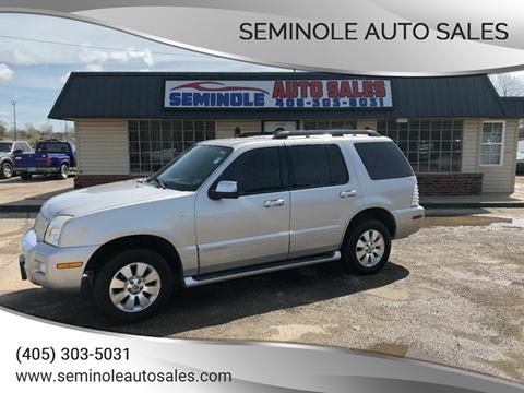 2008 Mercury Mountaineer for sale at Seminole Auto Sales in Seminole OK