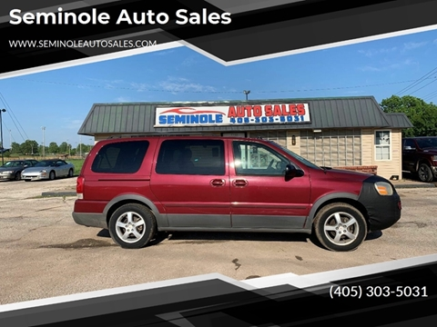 2005 Pontiac Montana SV6 for sale at Seminole Auto Sales in Seminole OK
