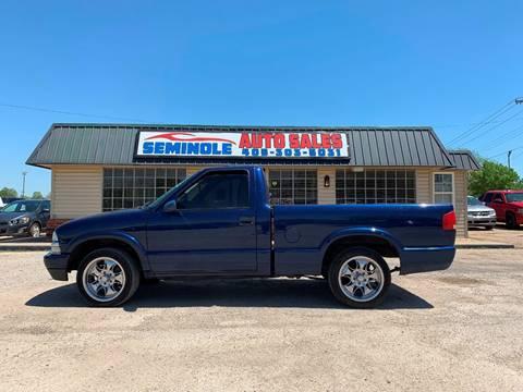 2002 Chevrolet S-10 for sale at Seminole Auto Sales in Seminole OK