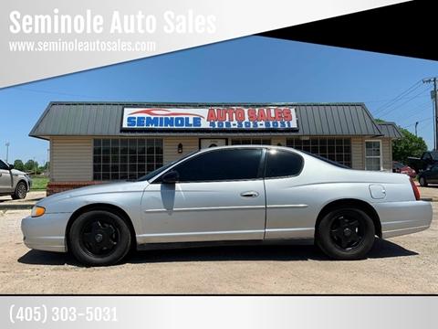 2004 Chevrolet Monte Carlo for sale at Seminole Auto Sales in Seminole OK
