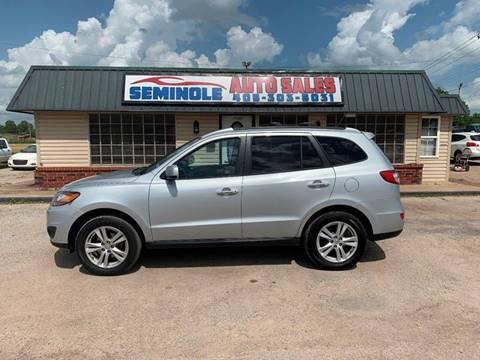 2010 Hyundai Santa Fe for sale at Seminole Auto Sales in Seminole OK