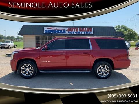 2015 GMC Yukon XL for sale at Seminole Auto Sales in Seminole OK