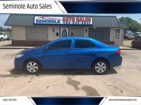 2009 Toyota Corolla for sale at Seminole Auto Sales in Seminole OK