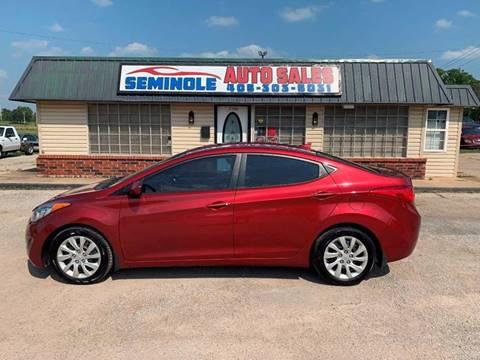 2013 Hyundai Elantra for sale at Seminole Auto Sales in Seminole OK