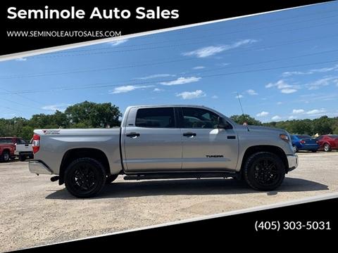 2019 Toyota Tundra for sale at Seminole Auto Sales in Seminole OK