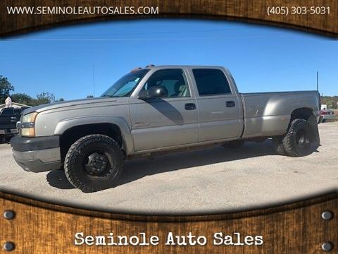 2003 Chevrolet Silverado 3500 for sale at Seminole Auto Sales in Seminole OK