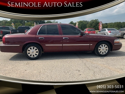 2004 Mercury Grand Marquis for sale at Seminole Auto Sales in Seminole OK