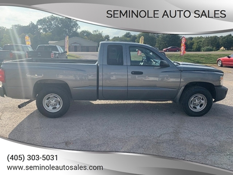 2008 Dodge Dakota for sale at Seminole Auto Sales in Seminole OK