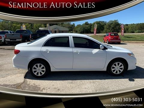 2010 Toyota Corolla for sale at Seminole Auto Sales in Seminole OK