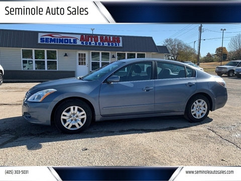 2012 Nissan Altima for sale at Seminole Auto Sales in Seminole OK