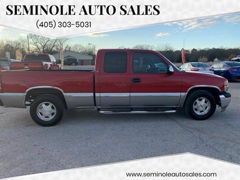 2001 GMC Sierra 1500 for sale at Seminole Auto Sales in Seminole OK