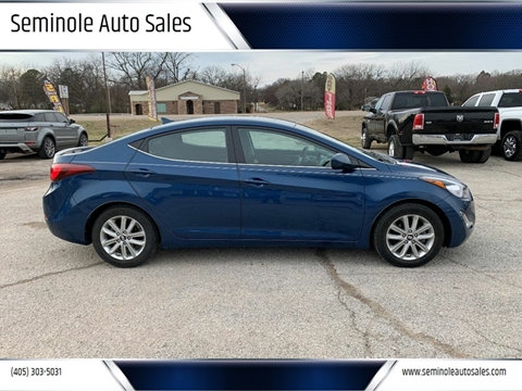 2015 Hyundai Elantra for sale at Seminole Auto Sales in Seminole OK