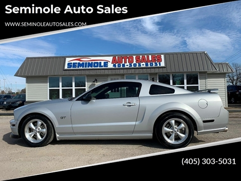 2007 Ford Mustang for sale at Seminole Auto Sales in Seminole OK