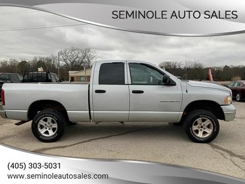 2004 Dodge Ram Pickup 1500 for sale at Seminole Auto Sales in Seminole OK