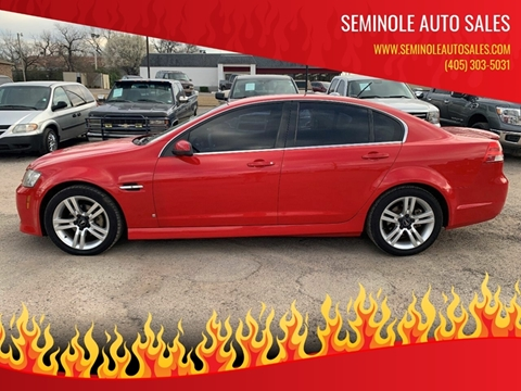 2009 Pontiac G8 for sale at Seminole Auto Sales in Seminole OK