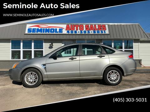 2008 Ford Focus for sale at Seminole Auto Sales in Seminole OK