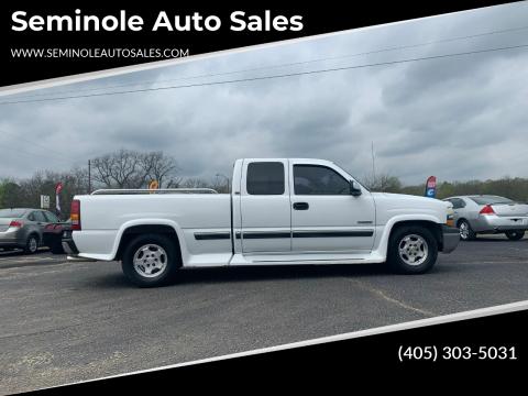 2002 Chevrolet Silverado 1500 for sale at Seminole Auto Sales in Seminole OK