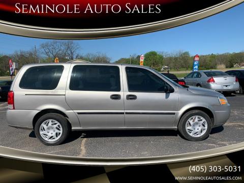 2007 Chevrolet Uplander for sale at Seminole Auto Sales in Seminole OK